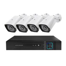 Vezetékes AHD kamerarendszer, 4 kamerával, éjjellátó funkcióval