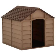 Barna PP kutyaház 71 x 71,5 x 68 cm - utánvéttel vagy ingyenes szállítással